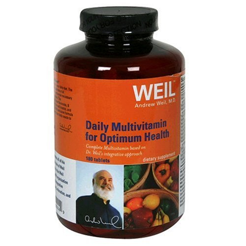 Weil Nutritional Daily Multivitamin for Optimum Health, Tablets, 180-Count Bottle