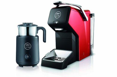 Lavazza Espria Kaffeekapselautomat mit Milchaufschäumer Red Love