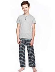 Pure Cotton Checked Pyjamas