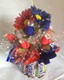 Candy Bouquet Edible Vase Full Size - Snickers