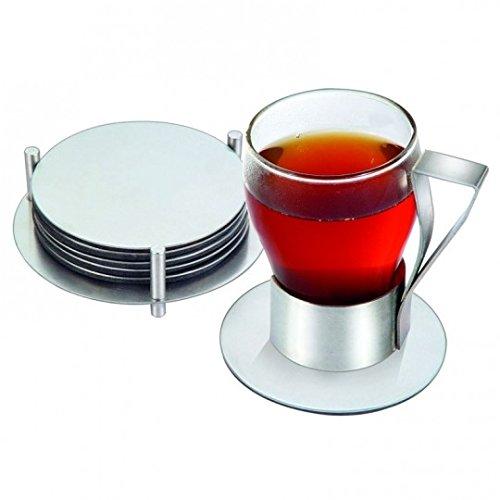 kabalo-set-of-6-round-stainless-steel-modern-coaster-drinks-mat