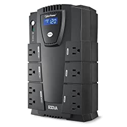 CyberPower CP600LCD Intelligent LCD UPS 600VA 340W Compact