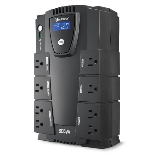 CyberPower CP600LCD Intelligent LCD UPS 600VA 340W Compact (Surge Protector Battery Backup compare prices)