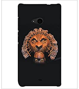 PrintDhaba Lion D-5135 Back Case Cover for MICROSOFT LUMIA 535 (Multi-Coloured)