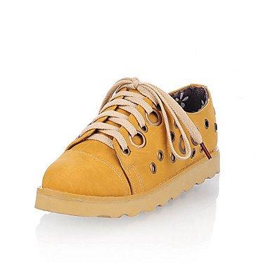 Les chaussures pour femmes Synthetic Talon plat Mary Jane Bureau Oxfords & Carrière/Robe jaune/bleu/occasionnel/Rose/Tan