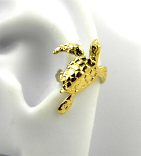 Gold Vermeil Sea Turtle Ear Cuffs Left