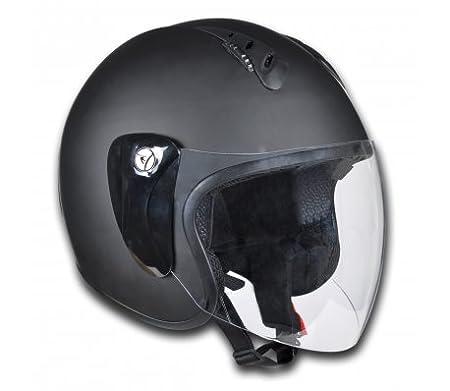 Casque Moto Demi-Jet Noir Taille M