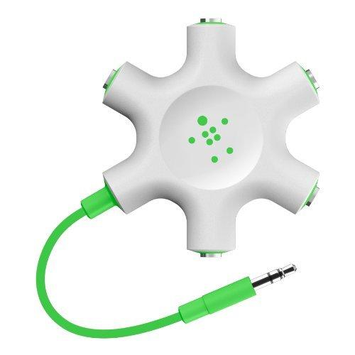 Belkin Rockstar Multi Headphone Splitter (Green) Color: Green