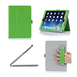 ProCase Apple iPad Air Case with bonus stylus pen - Flip Stand Leather Folio Cover for Apple iPad Air, iPad 5, iPad 5th generation, auto Sleep/Wake built-in Stand (Green)