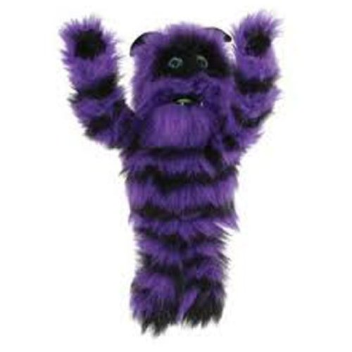 Marioneta de monstruo de peluche morado