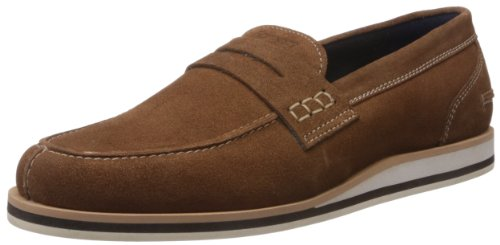 Famozi Famozi Men's Leather Loafers And Mocassins (Brown)