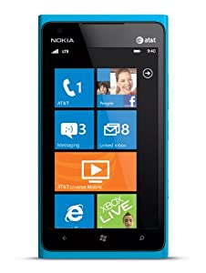 Nokia Lumia 900 16GB Unlocked GSM Phone with Windows 7.5 OS, AMOLED Touchscreen, 8MP Camera, GPS, Wi-Fi, Bluetooth, FM Radio and microSD Slot - Cyan Blue
