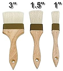 3 COMMERCIAL PASTRY BRUSH SET