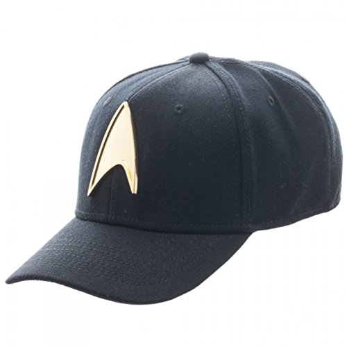 Star Trek Gold Metal Badge Flex Fit Hat