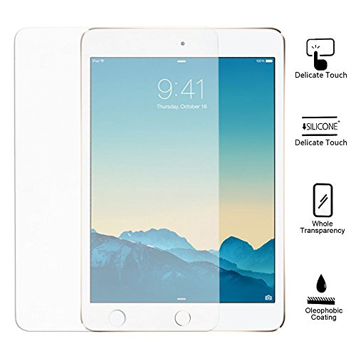 SHELKO - Premium High Quality Shatterproof Tempered Glass Screen Protector for iPad Air (5th gen) / iPad Air 2 (6th gen)