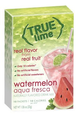 NEW FLAVOR: True Lime | WATERMELON AQUA FRESCA (Pack of 4) 10ct each box. True Lemon | True Citrus NON GMO and NO GLUTEN