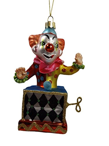 [Jack In The Box Scary Creepy Clown One Hundred 80 Degrees Christmas Ornament] (Scary Christmas Clowns)