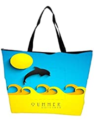 Snoogg Abstract Summer Background Waterproof Bag Made Of High Strength Nylon - B01I1KFAX2