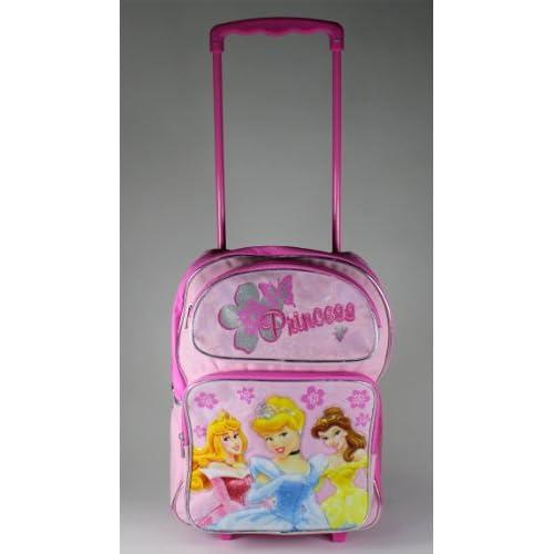 Princess Cinderella, Bell, Aurora 16 Rolling Backpack Toys & Games
