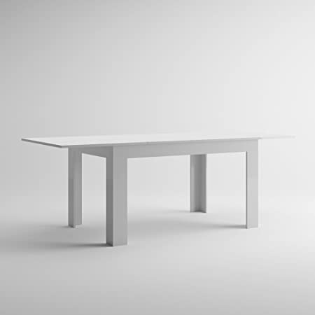 Table Extensible de Cuisine Blanc Brillant Easy