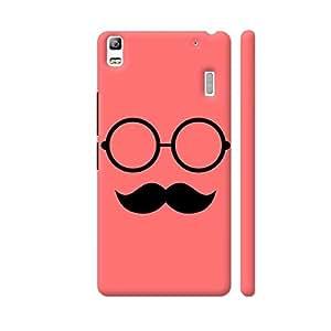 Colorpur Hipster Glasses And Moustache On Pink Designer Mobile Phone Case Back Cover For Lenovo A7000 | Artist: Designer Chennai