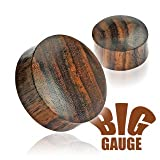 Solid Organic Sono Wood Saddle Plugs 1/2