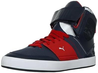PUMA Men's EL Solo Hi Fashion Sneaker, Black/Steel Grey, 8.5 D US