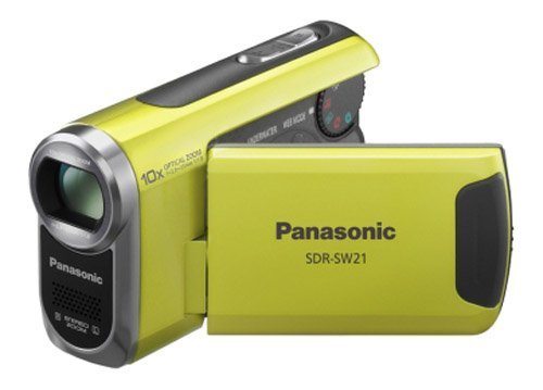 Panasonic SDR-SW21 Flash Memory Underwater & Sports Camcorder With SD Card Slot - Green