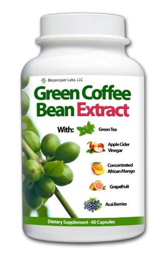 Greenbean Pure Green Coffee Bean Extract 700mg with African Mango, Green Tea, Apple Cider, Grapefruit, Kelp, & Acai
