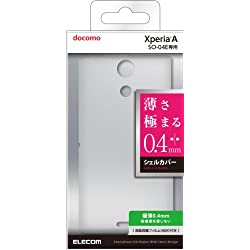 ELECOM Xperia A SO-04E用 シェルカバー スリム 極薄0.4㎜ クリア 液晶保護フィルム付き PD-SO04EPVUCR