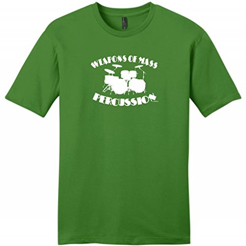 Weapons Of Mass Percussion Young Mens T-Shirt Medium Kiwi Green
