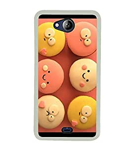 Cute Cup Cakes 2D Hard Polycarbonate Designer Back Case Cover for Micromax Canvas Play Q355