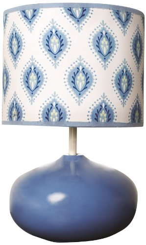 Dena Indigo Lamp Base and Shade, Blue/White (Discontinued by Manufacturer) - 1