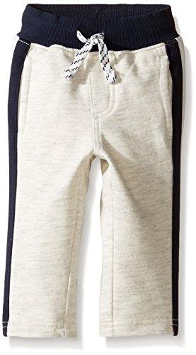 Gymboree Boys Side Stripe Knit Pants, Classic Grey Heather, 18-24