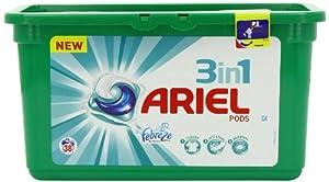 Ariel 3-in-1 Pods Liquitabs Febreze 38 Tablets (Pack of 3) (114 Tablets)