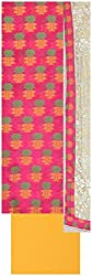 Laxmi Creations Women's Silk Unstitched Dress Material (Pink)