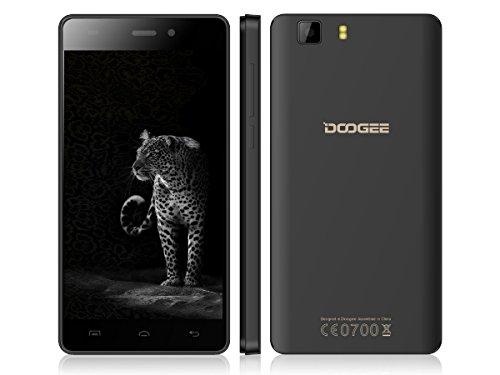 DOOGEE Galicia X5 PRO Android 5.1 Lollipop・64bit Quad-Core 4G LTE SIMフリー2 Slot・5.0インチHD IPS液晶 (Black)