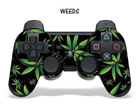 Designer Skin for Playstation 3 Remote Controller - Weeds Black
