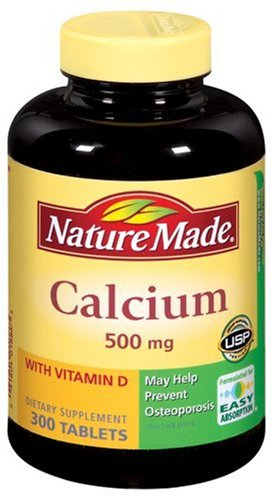 Nature Made Calcium With Vitamin D, 500Mg, 300 Softgels (Pack Of 2)