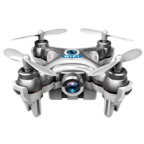 Perman CX-10W Mini Wifi FPV With 720P Camera 2.4G 4CH 6 Axis LED RC Quadcopter Drone Gyro UFO Silver