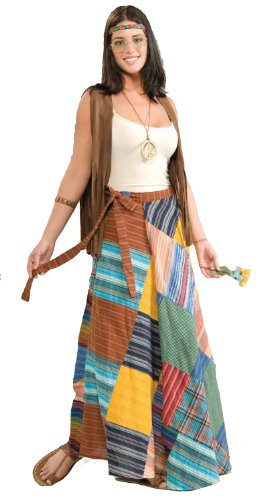 Forum Novelties Women's 60's Hippie Revolution Patchwork Skirt