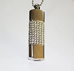 Anyusb118 Fancy Jewellery Studded Bar Pen Drive (8 Gb) + Exclusive Hand Made Gift Box