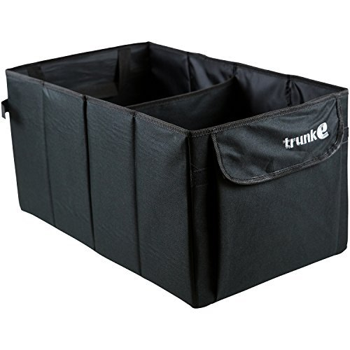 Auto Trunk Organizer | Heavy Duty Design | Fits Any Size Cargo for Car, Truck or SUV | Collapsible and Folding Backseat Organizer (Cargo Organizer With Cooler compare prices)