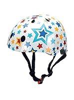 Kiddimoto Casco de Ciclismo Stars (Blanco / Multicolor)
