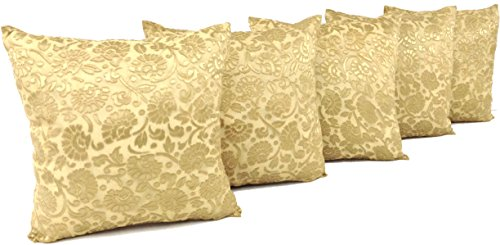 A VFM Home Polyester Floral Cushion Cover Set of 5
