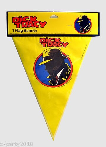 Dick Tracy Vintage Flag Banner (1ct)