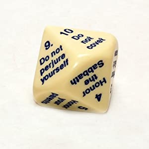 Ten Commandments Dice, 25mm d10