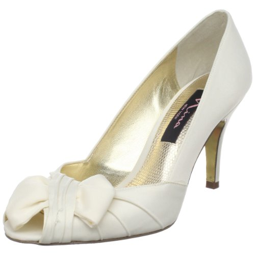 Nina Women's Forbes Open-Toe Pump,Ivory Luster,7 M US
