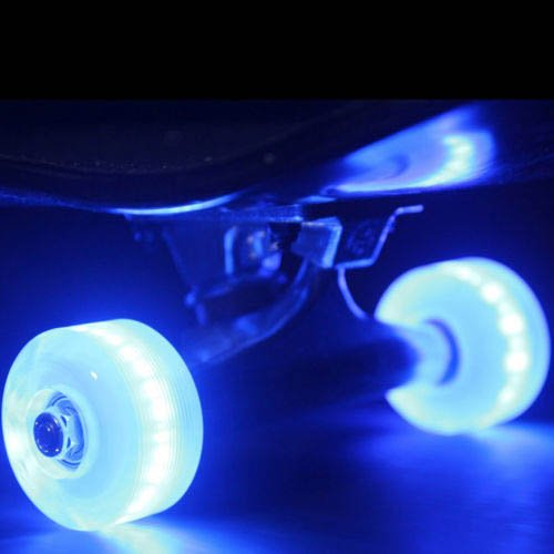 Led Skateboard Wheels Sunset Flare 54Mm Blue Light Up