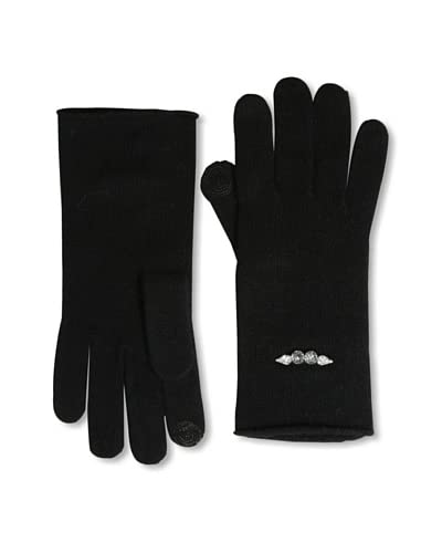 Open Sesame by Portolano Women's Crystal Accent Tech Gloves